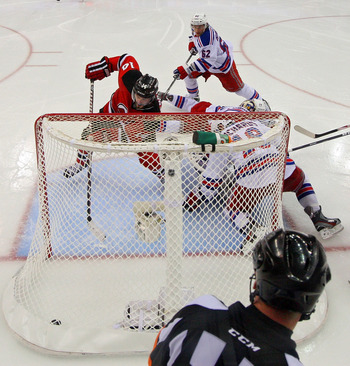 Adam Henrique scoring the series winning goal against the Rangers