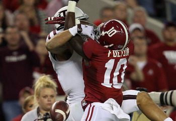 Fulton recorded four pass break ups in the Tide's loss to Texas A&M.