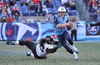 Jake Locker finished 2012 with 10 passing touchdowns and 11 interceptions.
