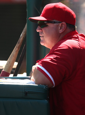 Angels manager Mike Scioscia