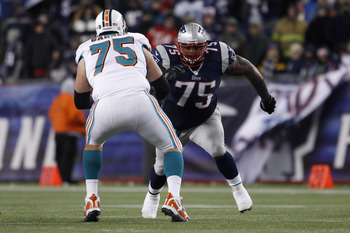Vince Wilfork bullied through the Dolphins offensive line.