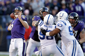 The Ravens and Colts will face off in a first-round playoff matchup next weekend.