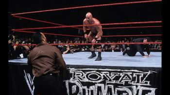 The Rock and Austin met for their first WrestleMania match at WrestleMania XV. Photo by: WWE