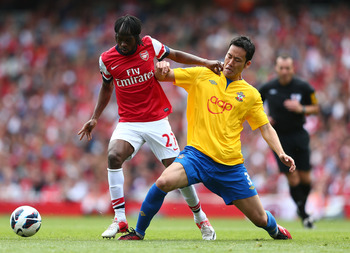 Gervinho was the hero against Southampton at The Emirates.