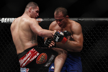 Cain Velasquez and Junior Dos Santos - Esther Lin/MMAFighting