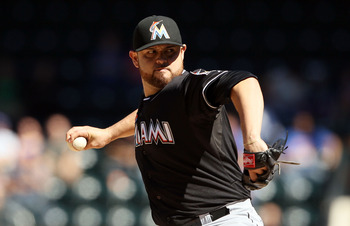 Ricky Nolasco is the only starter with experience in Miami.