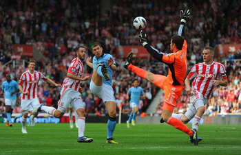 Edin Dzeko played in the 1-1 draw at Stoke in September.
