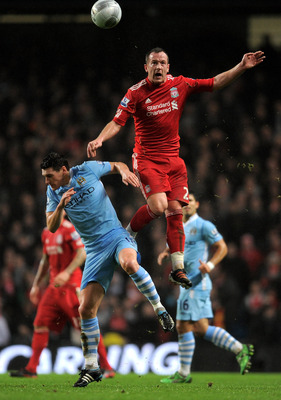 Gareth Barry and Charlie Adam clashed last season when the Stoke midfielder was at Liverpool.