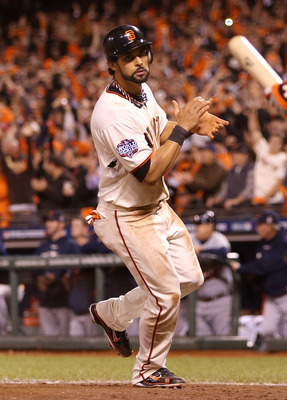 Angel Pagan is back in center for the reigning champs.