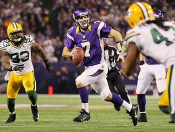 Christian Ponder's passer rating improved from 70.1 in 2011 to 81.2 in 2012.