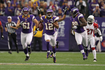 Percy Harvin has led the Vikings in all-purpose yards his first three years with the team.