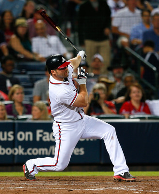 Although a power hitter, Dan Uggla has struggled at the plate.
