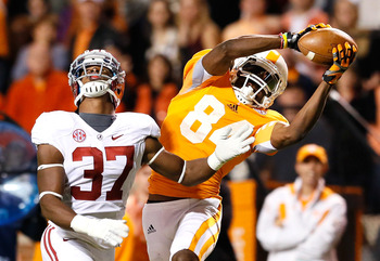 Cordarrelle Patterson only played one season at Tennessee, but made an immediate impression.