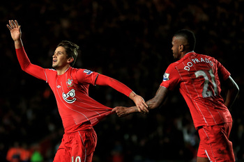 Gaston Ramirez opened the scoring for Southampton against Arsenal.