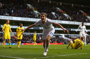 Michael Dawson headed Spurs level.