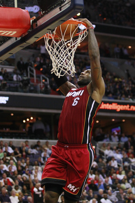 December 4, 2012; Washington, DC, USA; Miami Heat small forward LeBron James (6) dunks the ball against the Washington Wizards in the second quarter at Verizon Center. Mandatory Credit: Geoff Burke-USA TODAY Sports