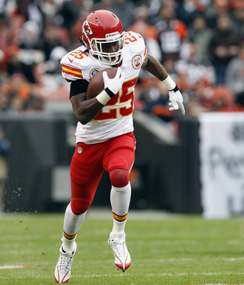 Jamaal Charles averaged 5.3 yards per carry.