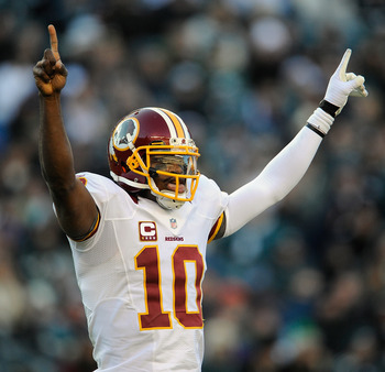 Robert Griffin III led all quarterbacks in rushing yards.
