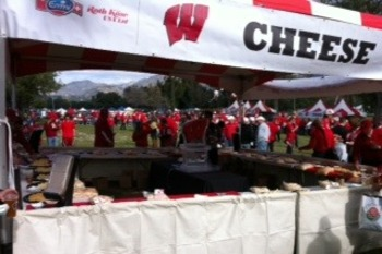 Wisconsin cheese tent at 2013 Rose Bowl