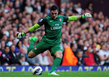 Vito Mannone hasn't convinced in the Arsenal goal.