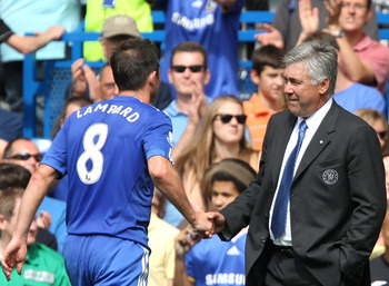 Frank Lampard played under PSG manager Carlo Ancelotti at Chelsea.