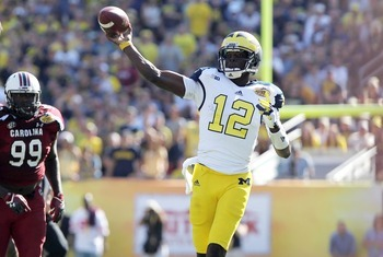 Devin Gardner made a handful of plays for the Michigan Wolverines, but they were not enough to top South Carolina.