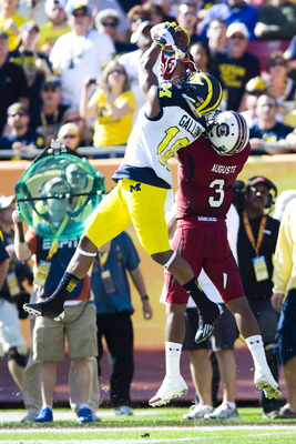 Jeremy Gallon made a number of highlight reel catches for the Wolverines on Tuesday.
