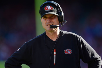 Jim Harbaugh has guided the 49ers to back-to-back playoff appearances.