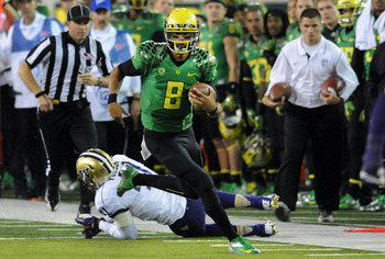 QB Marcus Mariota is the leader of Oregon's youth movement.