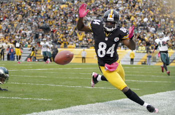 Besides touchdowns, Antonio Brown's stats were down in 2012.