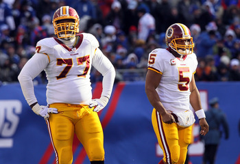 Jammal Brown (No. 77) has likely played his last game in a Redskins uniform.