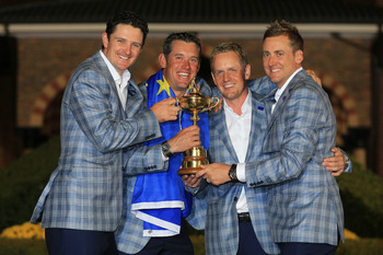 Justin Rose, Lee Westwood, Luke Donald and Ian Poulter shared the Ryder Cup at Medinah