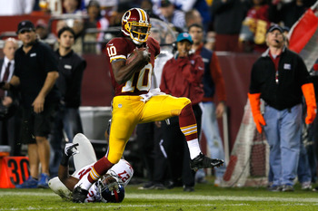 Robert Griffin III breaks free for a long run during a Dec. 3 game against the New York Giants