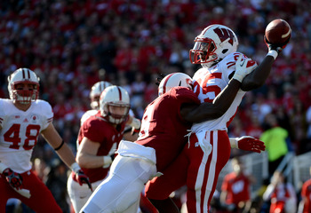 Jordan Richards had seven tackles, including a sack versus Wisconsin.