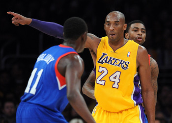 Typical Kobe, pointing the finger.
