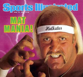 Before the Hulkster went to TNA, he was sporting this neat do on the cover of Sports Illustrated. Photo Courtesy of wordpress.com