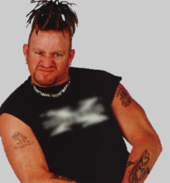 Road Dogg's dreadlocks/cornrows never really made sense. Photo Courtesy of screened.com