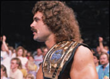 Rick Rude's hair was a piece of art. Terrible, awful art. Photo Courtesy of WWE.com