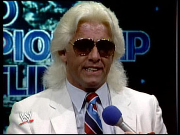 Ric Flair might be one of the most decorated wrestlers in WWE history, but his feathered hair was bad. Photo Courtesy of ugo.com