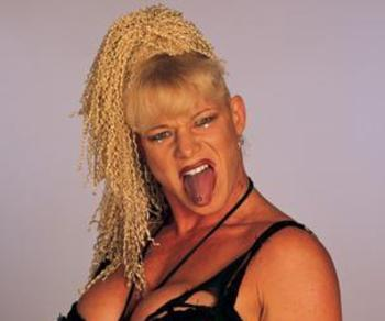 Luna Vachon's personality was as crazy as her hair...which was exceptionally crazy. Photo courtesy of nocookie.net