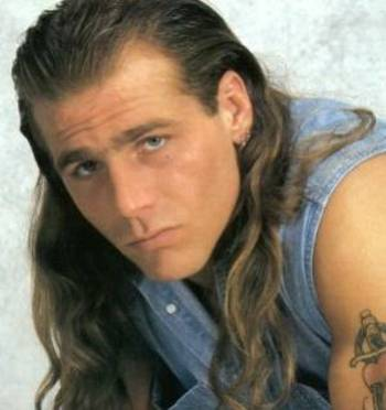 "Shawn Michaels was the WWE's ""Sexy Boy"" in residence, but his hair looked straight girly. Photo Courtesy of wrestlerbiographies.com"