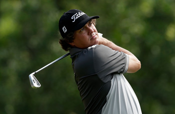 After a couple waggles in his pre-shot routine, mostly all of Jason Dufner's swings look the same.