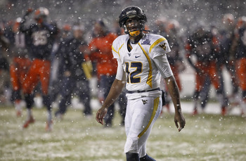 West Virginia QB Geno Smith at the New Era Pinstripe Bowl