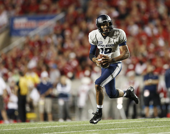 Utah State QB Chuckie Keeton led his team to the Famous Idaho Potato Bowl.