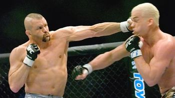 Chuck Liddell knocked out many other MMA legends in his prime. Photo c/o CagePotato.com.