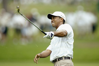 Tiger at the 2003 PGA