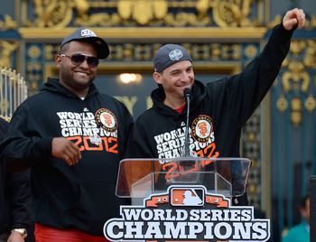 Pablo Sandoval and Marco Scutaro, World Series and NLCS MVPs.