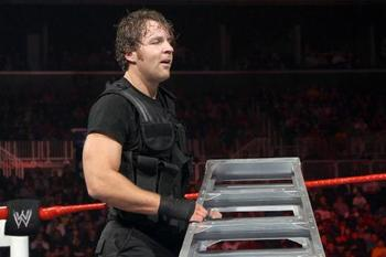 Dean Ambrose with a ladder in hand at TLC 2012. Photo: WWE.com.