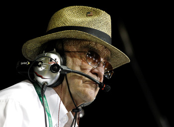 HOMESTEAD, FL - NOVEMBER 17:  Team owner Jack Roush watches the NASCAR Nationwide Series Ford EcoBoost 300 at Homestead-Miami Speedway on November 17, 2012 in Homestead, Florida.  (Photo by Tom Pennington/Getty Images)
