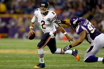 Chicago Bears backup quarterback Jason Campbell.
